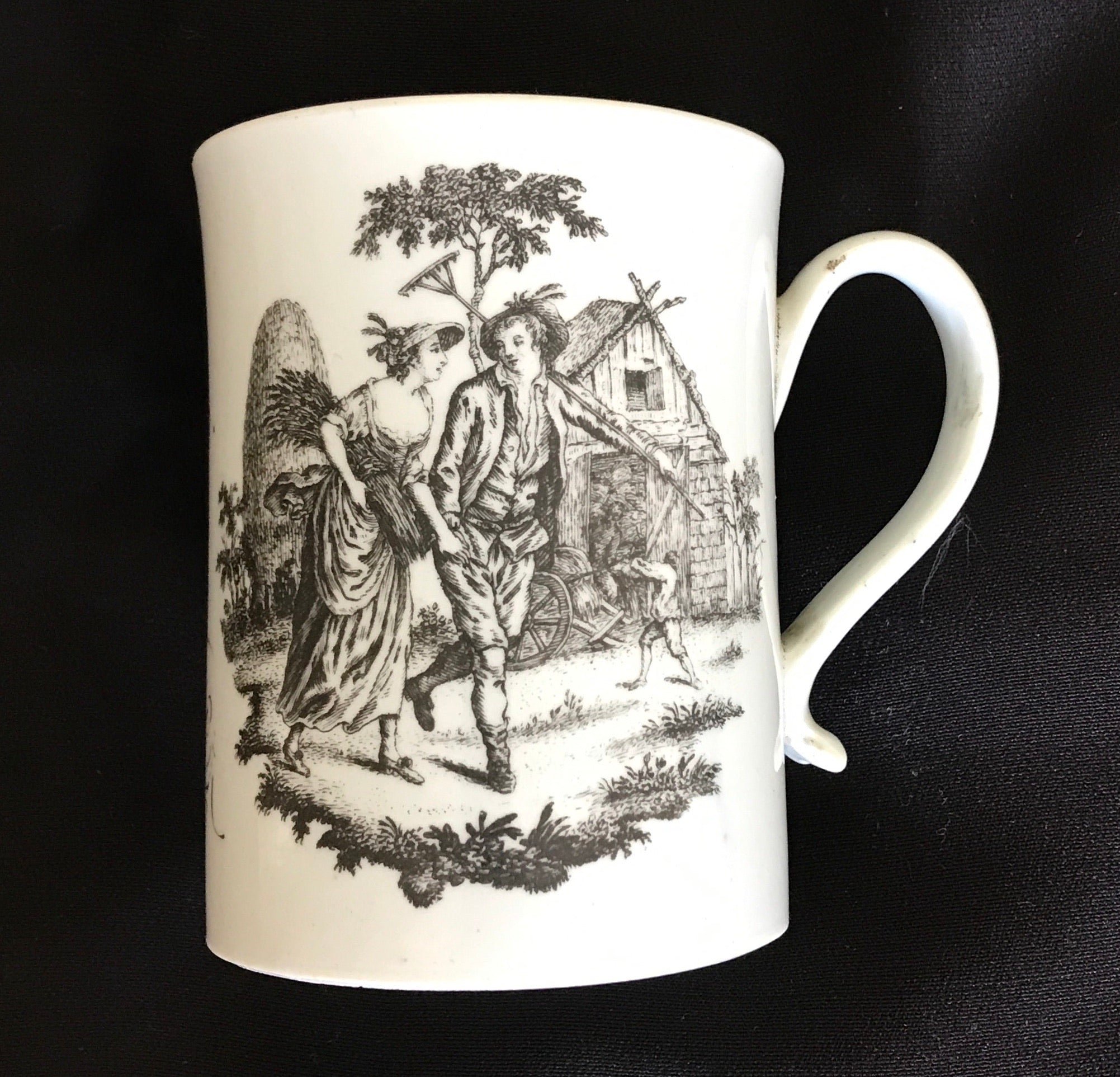 18th Century Liverpool Porcelain Philip Christian Dated Mug