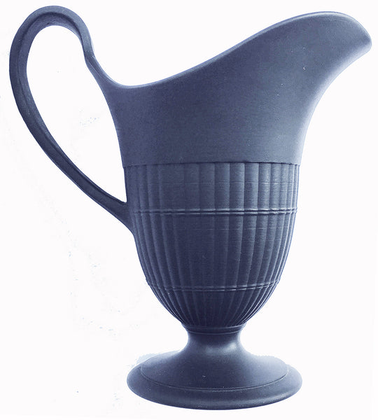 Wedgwood Pottery Basalts Engine-Turned Helmet-Shaped Creamer Circa 1860