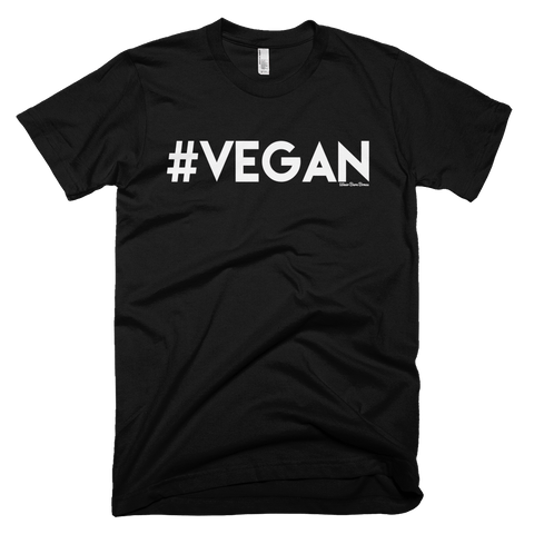 Men's 'Vegan' Tee in Black - WearBareBones