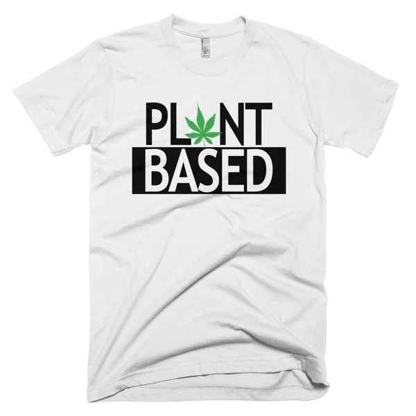 Men's 'Plant Based' Tee in White - Wear Bare Bones