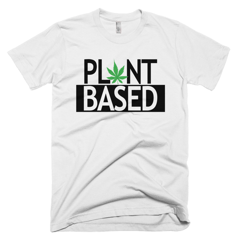 Men's/Unisex 'Plant Based' Tee in White - WearBareBones