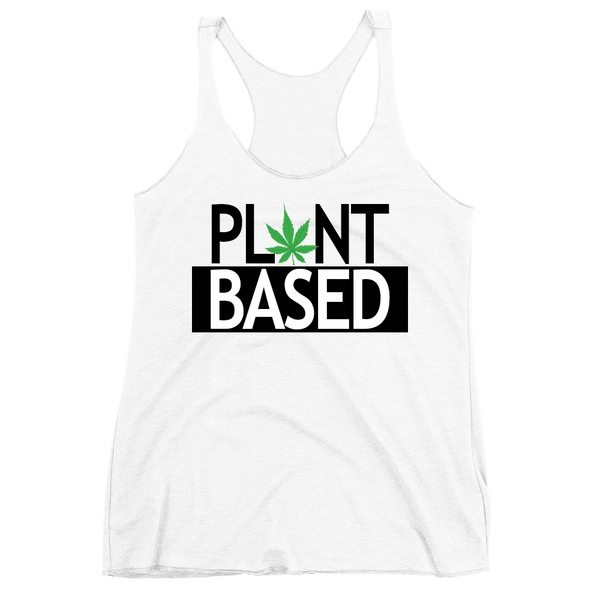 Women's 'Plant Based' Tank in White