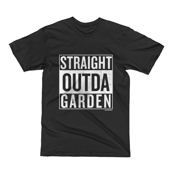 Men's/Unisex 'Garden' Tee in Black