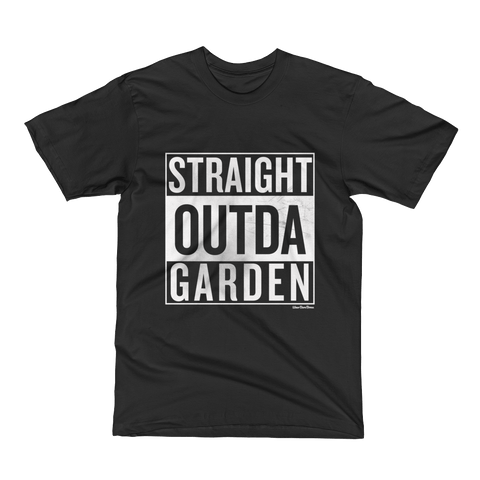 Men's 'Straight Outda Garden' Tee in Black - WearBareBones