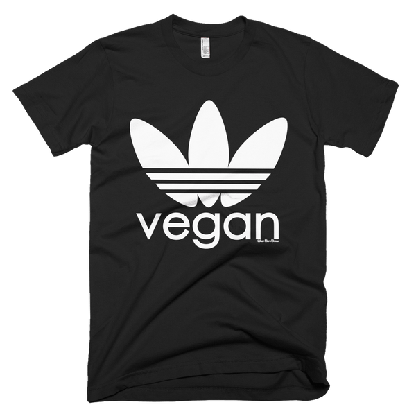 Men's 'Sporty Vegan' Tee in Black