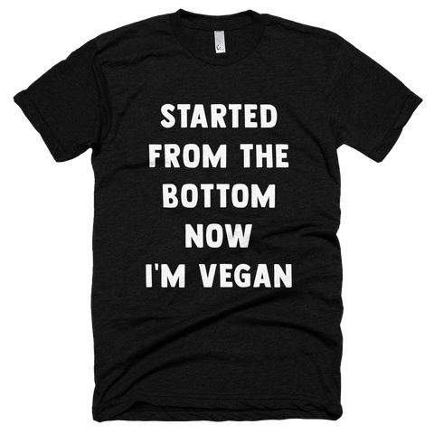 'Started From the Bottom' Tee in Black - WearBareBones