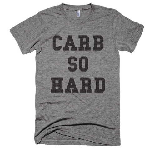 Men's/Unisex 'Carb So Hard' Tee in Heather Grey - WearBareBones