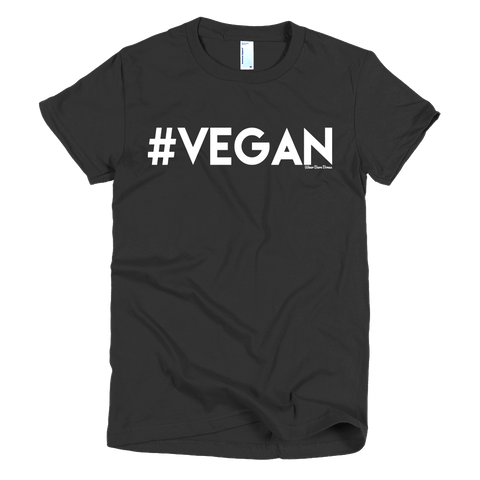 Women's 'Vegan' Tee in Black - WearBareBones