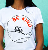 'Be Kind' Tee in White - WearBareBones