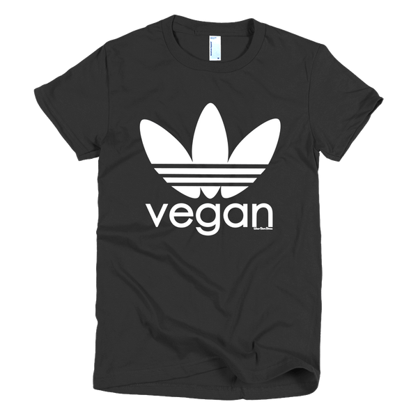 Women's 'Sporty Vegan' Tee in Black