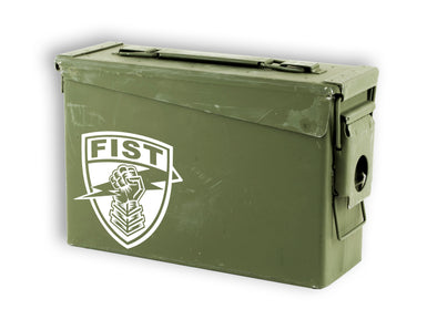 White Fist Forward Observer Fister Shield Decal Sticker