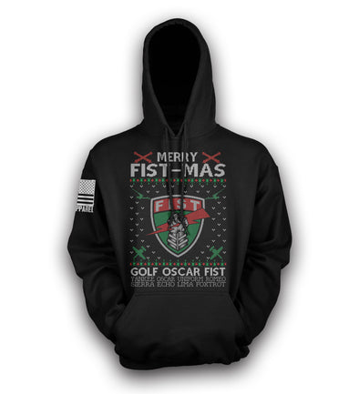Merry FIST-MAS Pull-Over Hoodie (Pre-Order Now)