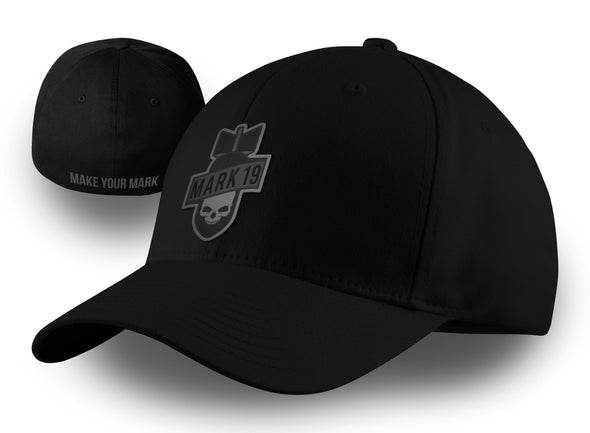 Mark 19 Black Bomber Logo FlexFit Hat