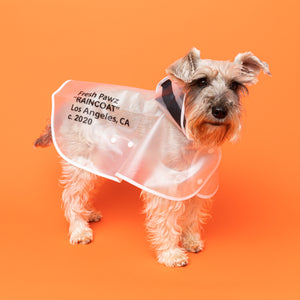 Semi-Clear Quotation Mark Rain Jacket