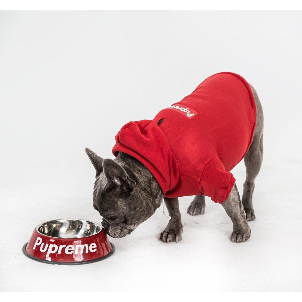 Pupreme Box Logo Hoodie | Dog Clothing
