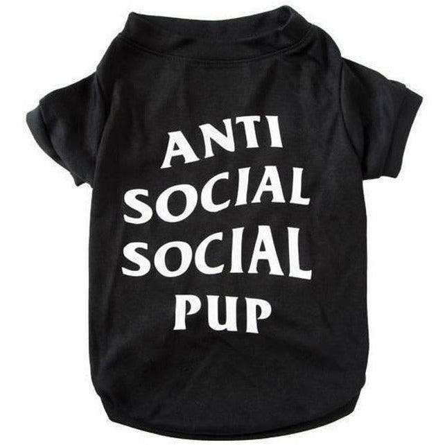 Anti Social Social Pup T-shirt | Dog Clothing
