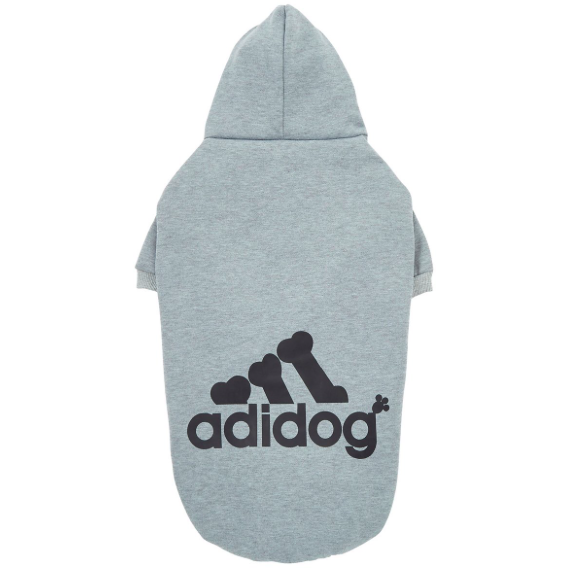 Adidog Logo Fleece Hoodie | Dog Clothing