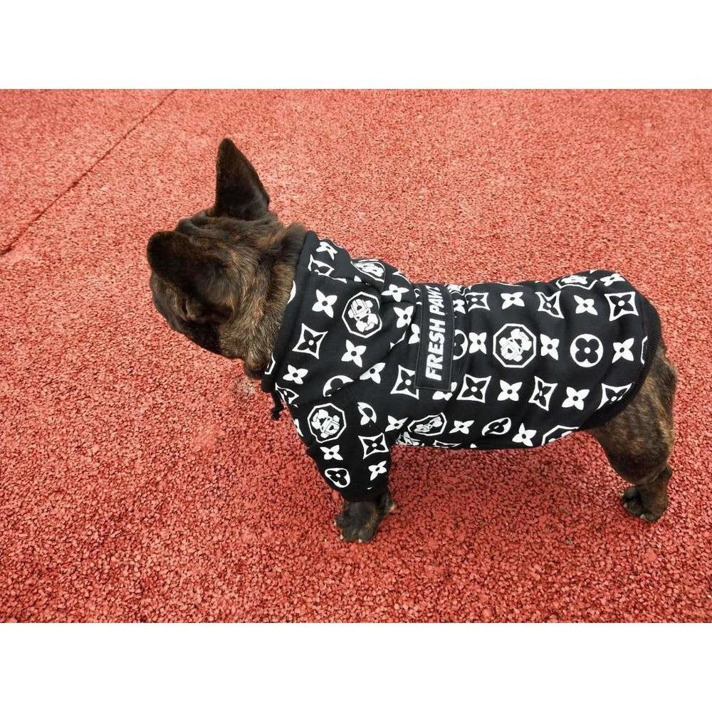 Monogram Hype Hoodie | Dog Clothing