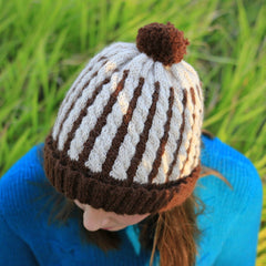 Wafer Cable Beanie by Say! Little Hen