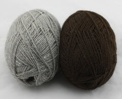 Sonata Grey and Brahms 4ply yarns