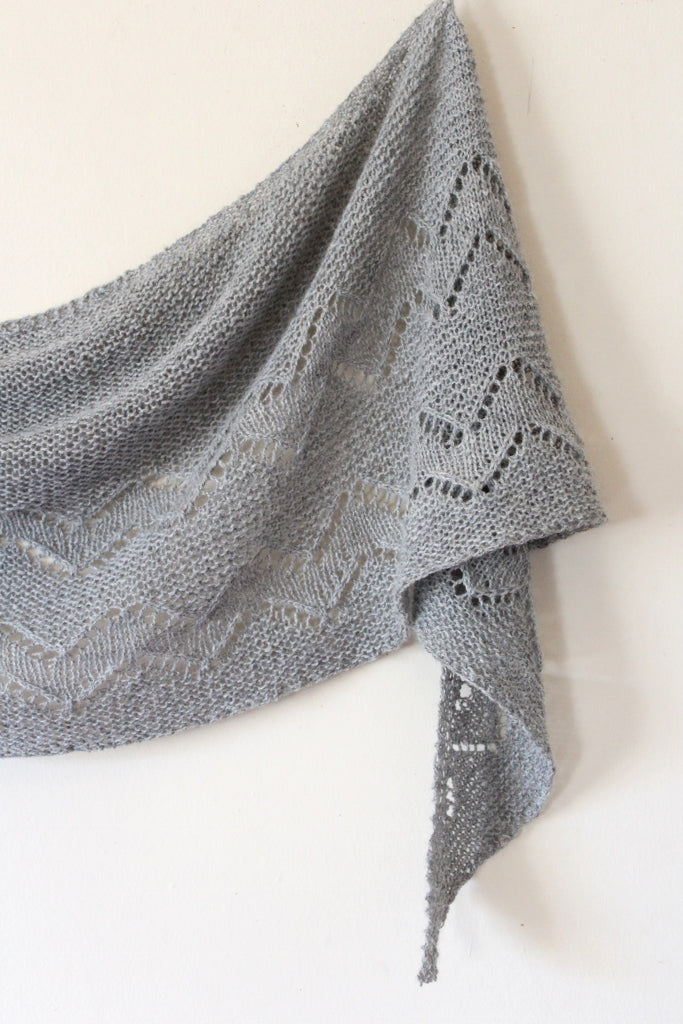 Adagio Mills Knitting Project Jindabyne Shawl by Meg Gadsbey