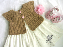 Tea Garden's Girls Cardigan by Musk Rose Designs