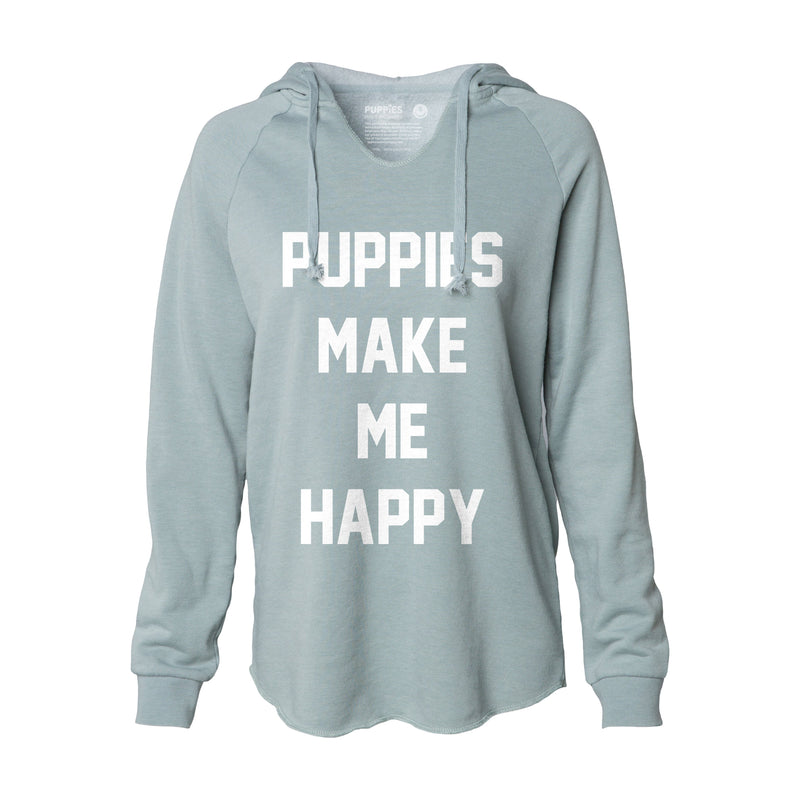 Title Tee | After Yoga Pullover - Puppies Make Me Happy