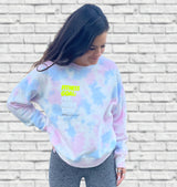 Fitness Goals | Cotton Candy Tie-Dye Women's Pullover