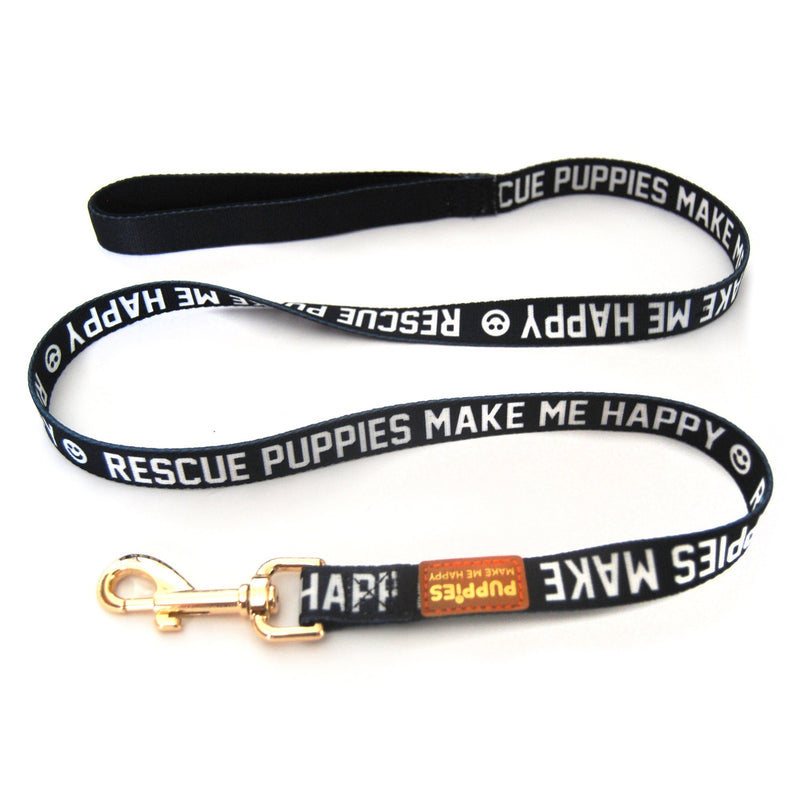 Rescue Puppies | 4' Leash - Puppies Make Me Happy