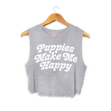 Puppies Are Far Out  | Crop Top - Puppies Make Me Happy