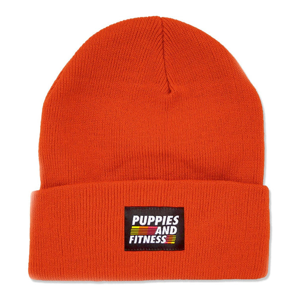 Puppies & Fitness | Tiger Orange Beanie - Puppies Make Me Happy