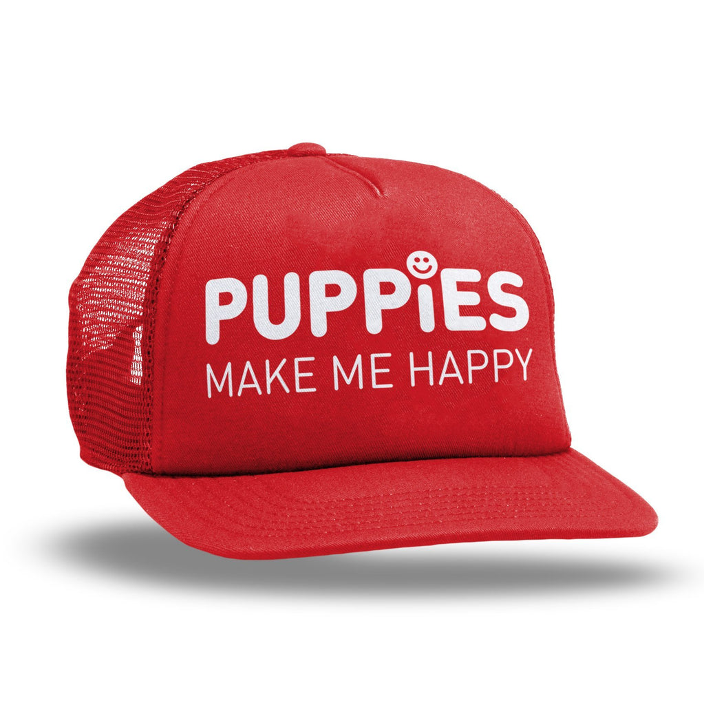 Company Cap | Anniversary Trucker - Puppies Make Me Happy