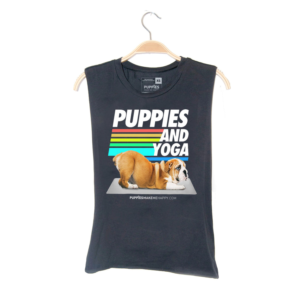 Puppies and Yoga 2020 | Puppies Soft Uni-Sex Tank - Puppies Make Me Happy