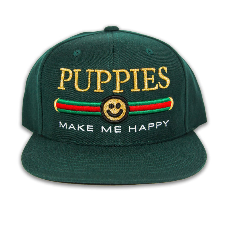 Pup Lux Metallic Gold Puff Snapback - Puppies Make Me Happy