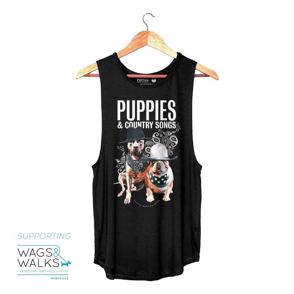 Country Songs - Sleeveless - Supporting Wags & Walks with Kane Brown - Puppies Make Me Happy
