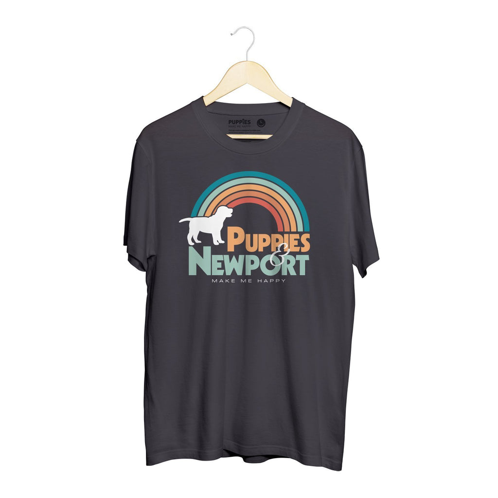 Puppies & Newport | Unisex Crewneck Tee - Puppies Make Me Happy