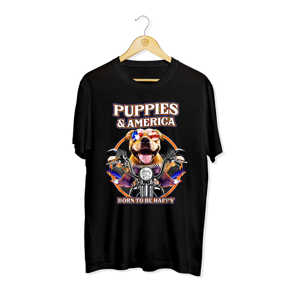 Puppies & America | Men's Tee