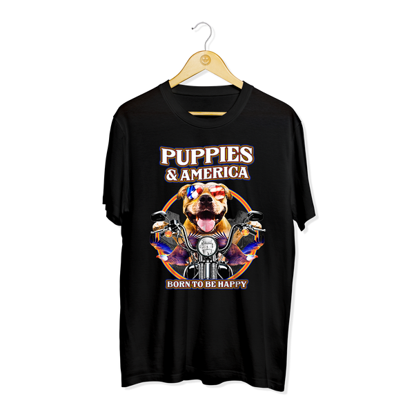 Puppies & America | Men's Tee - Puppies Make Me Happy