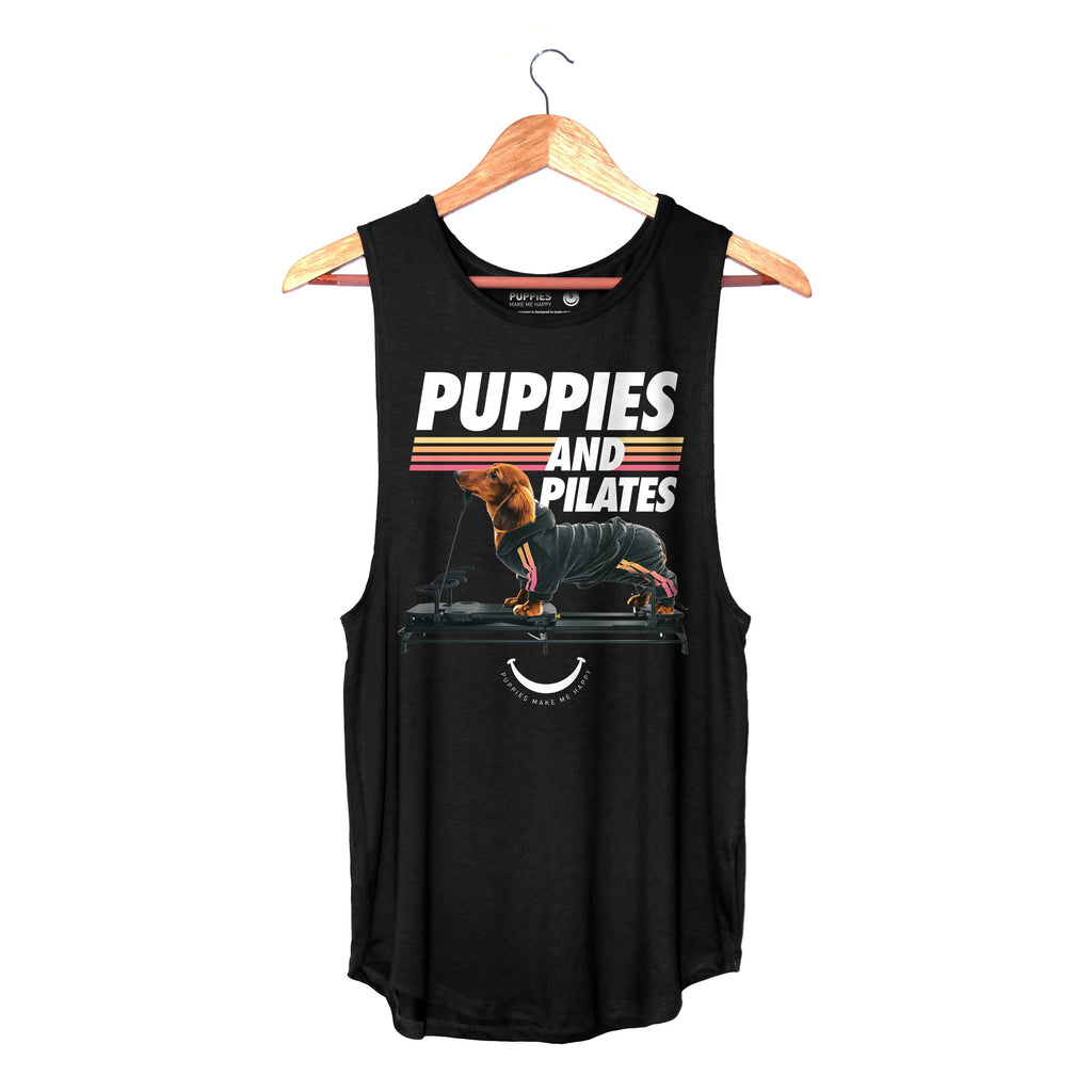 PRE-ORDER - Puppies & Pilates | Women's Sleeveless
