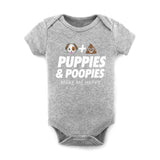 Puppies & Poopies | Heather Baby Onesie - Puppies Make Me Happy