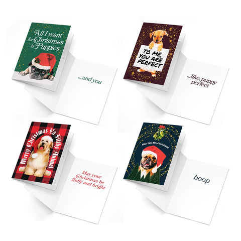 Puppy Holidays Cards | 4-Pack
