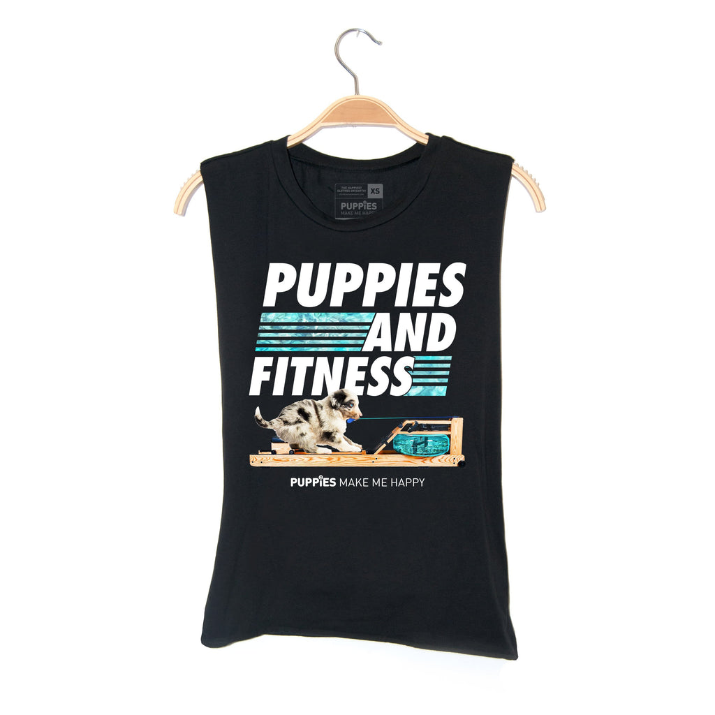 Row, Row, Row Your Puppies | Soft Cotton Uni-Sex Tank - Puppies Make Me Happy