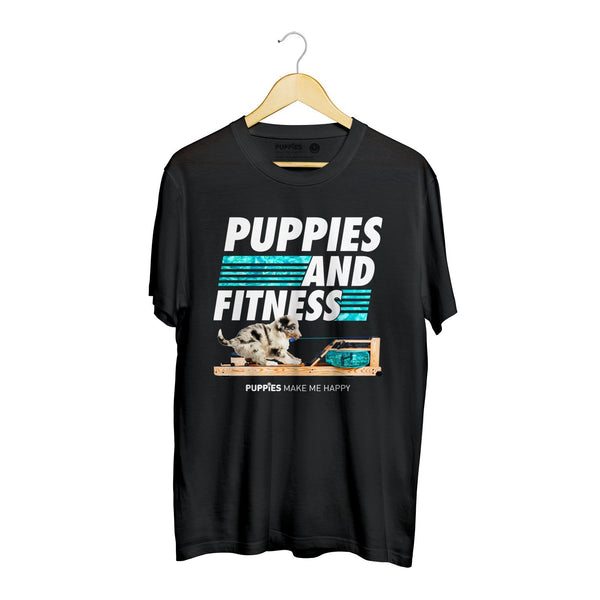 Row, Row, Row Your Puppies | Soft Cotton Uni-Sex  Tee - Puppies Make Me Happy