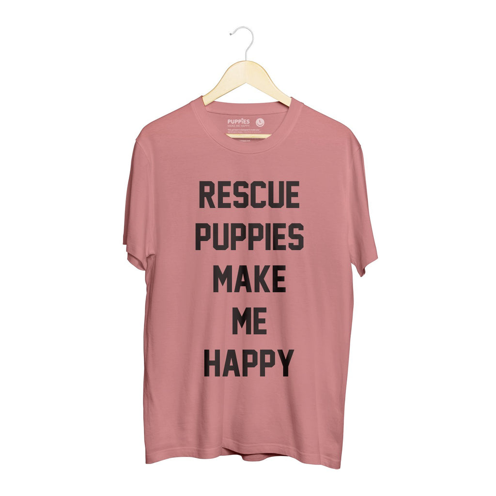 Rescue Puppies Title | Uni-Sex Crewneck Tee - Puppies Make Me Happy