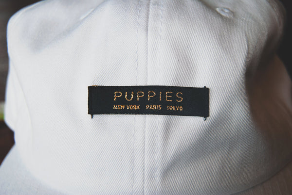 Puppy-Sized Designer Label | Strapback Hat - Puppies Make Me Happy