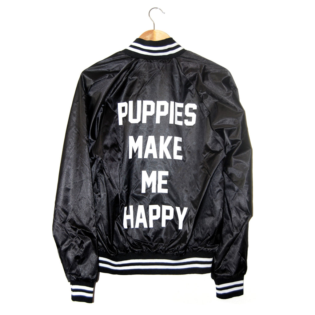 Title Tee | Varsity Member Jacket - Puppies Make Me Happy