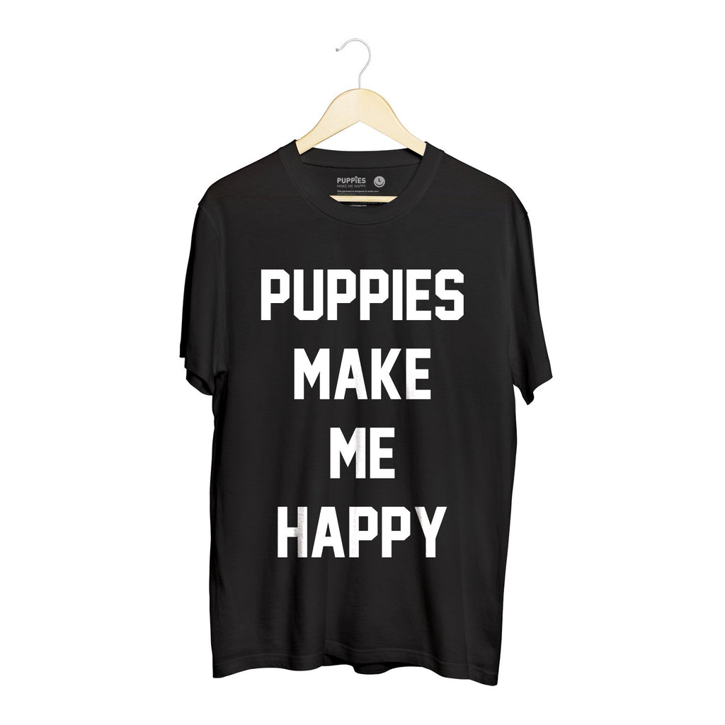 Title Tee | Crewneck Tee - Puppies Make Me Happy