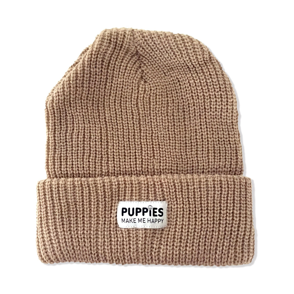 Company Label Beanie - Puppies Make Me Happy