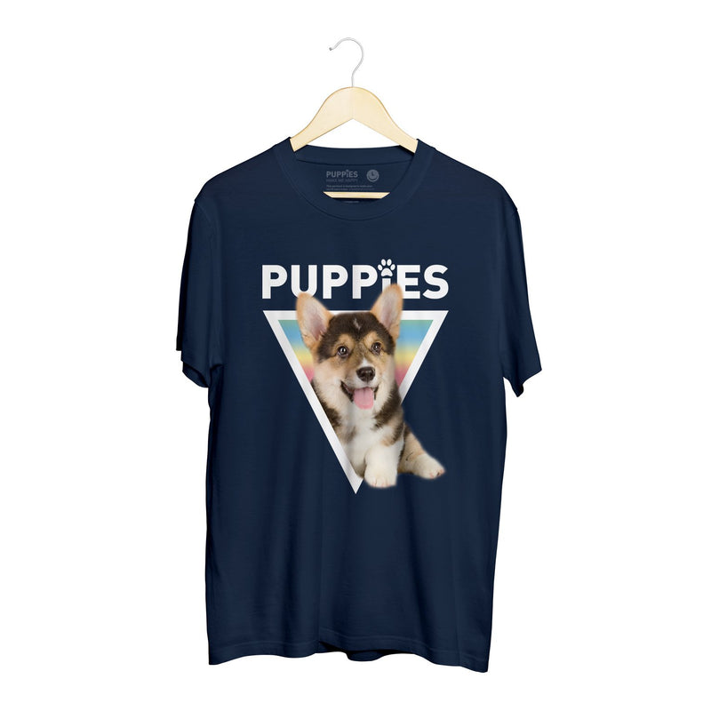 Corgy | Soft Cotton Uni-Sex Tee - Puppies Make Me Happy