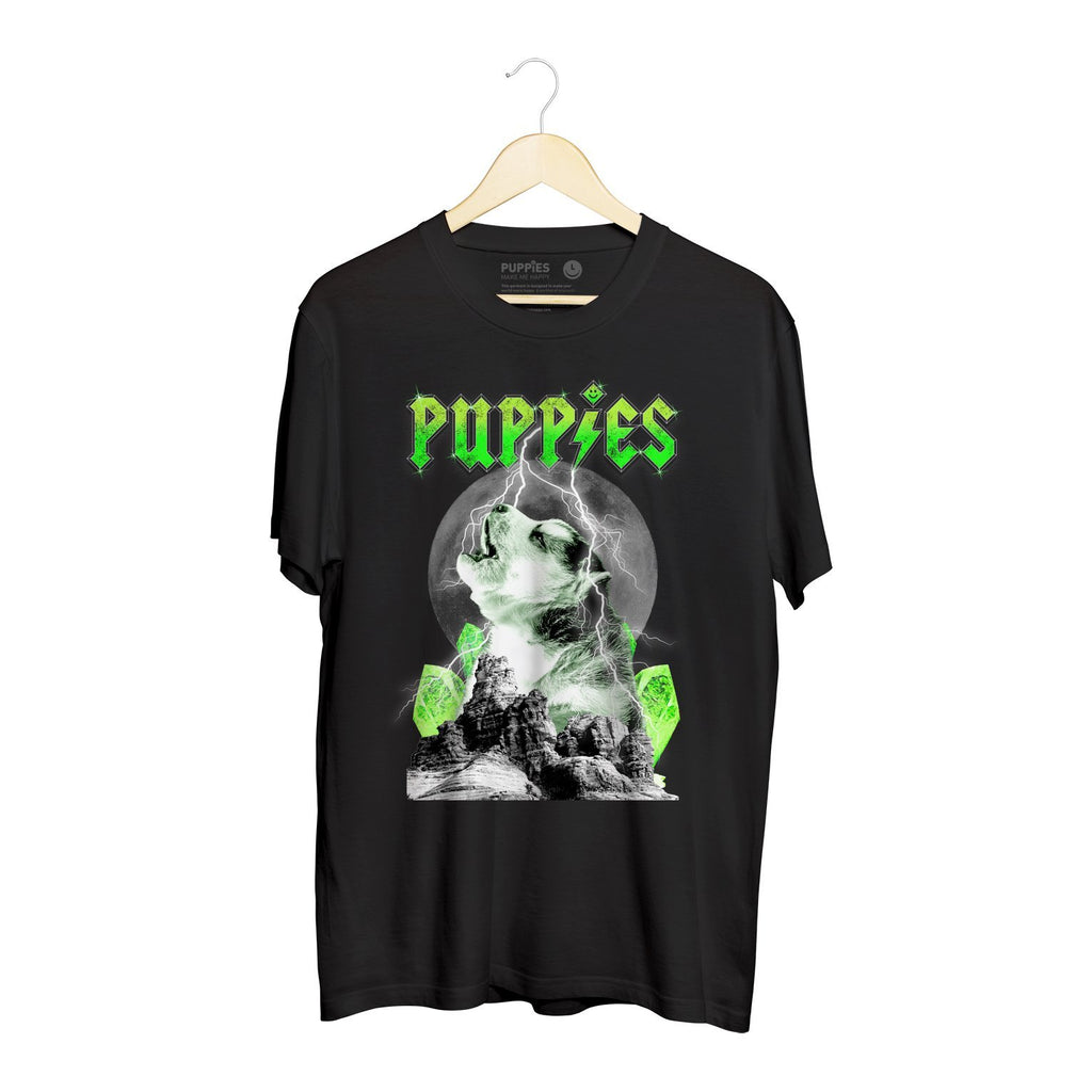 Pup Rock | Soft Cotton Uni-Sex  Tee - Puppies Make Me Happy